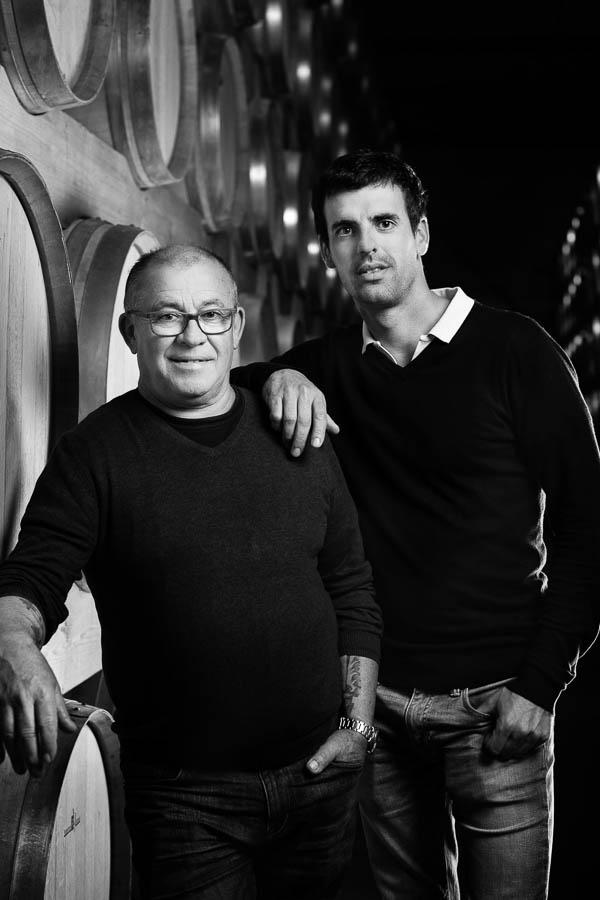 Portrait de deux vignerons de la région bordelaise